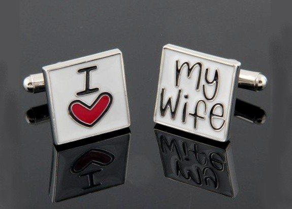 boutons de manchette i love my wife declaration d amour