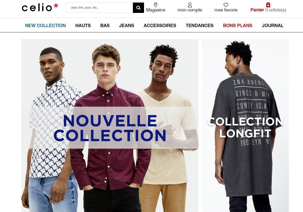 celio mode homme nouvelle collection automne hiver 2016