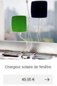 chargeur solaire fenetre idee cadeau homme ecolo