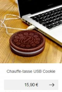 chauffe tasse usb cookie oreo idee cadeau homme high tech