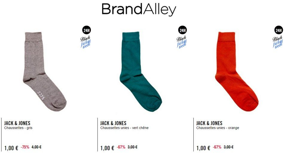 chaussettes homme jack and jones brandalley