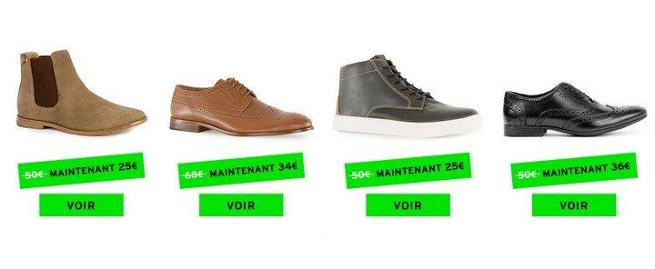 chaussures baskets topman