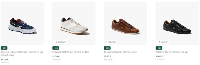 chaussures lacoste pas cher