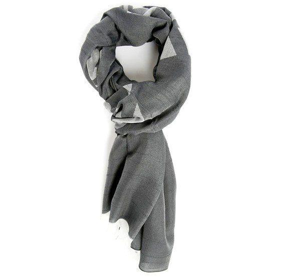 cheche imprime gris bicolore armani collezioni