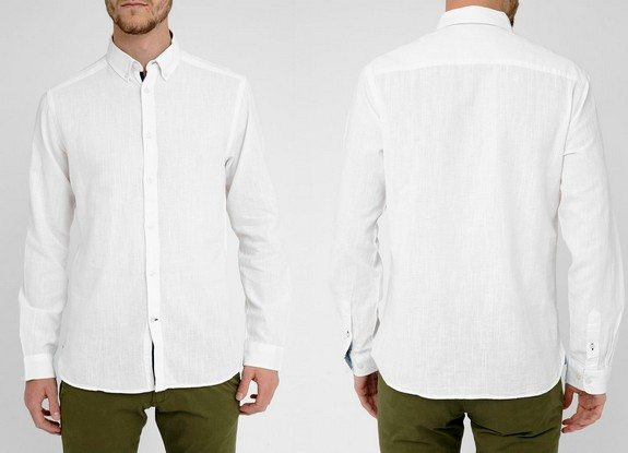 chemise blanche homme jack and jones