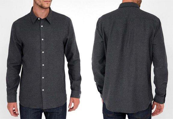 chemise grise en flanelle melindagloss menlook collaboration anniversaire 5 ans