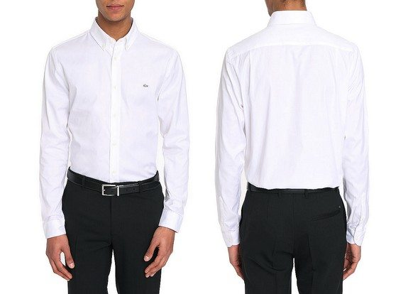 chemise homme blanche lacoste