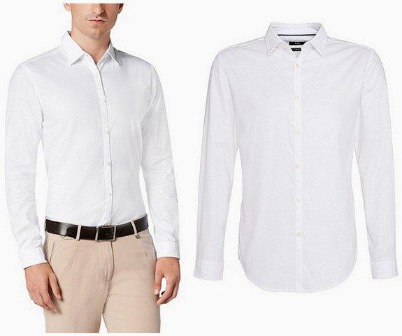 chemise homme blanche slim en coton hugo boss
