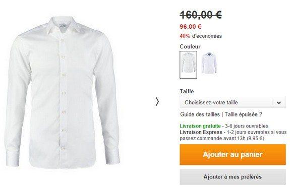 chemise homme blanche van laack