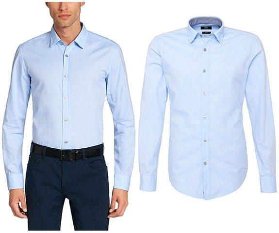 chemise homme bleu ciel slim fit en coton hugo boss