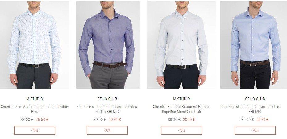 chemise homme destockage