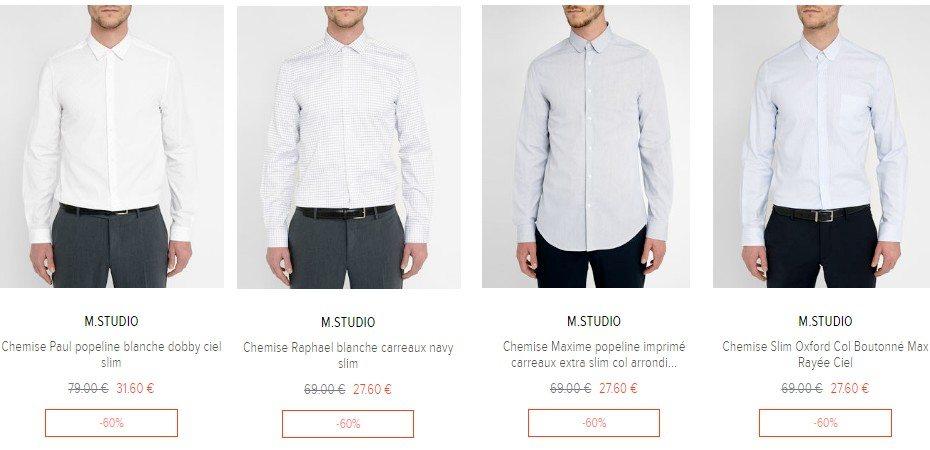 chemise homme destokage
