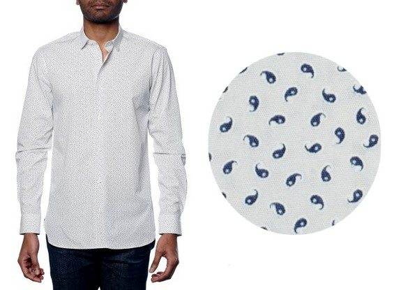 chemise homme motif cachemire