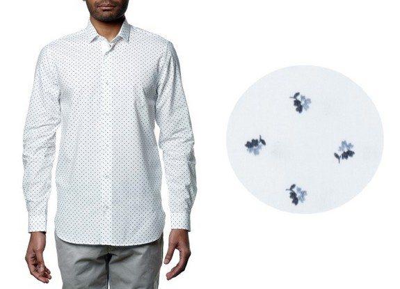 chemise homme motif fleurs
