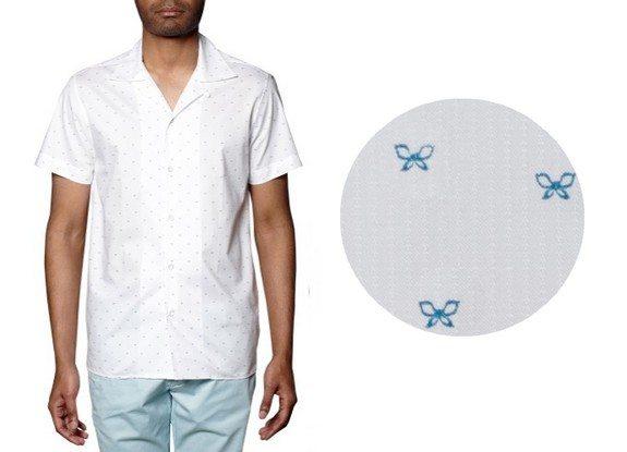 chemise manches courtes a motifs