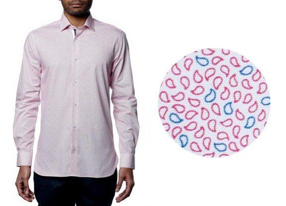 chemise motif bicolore