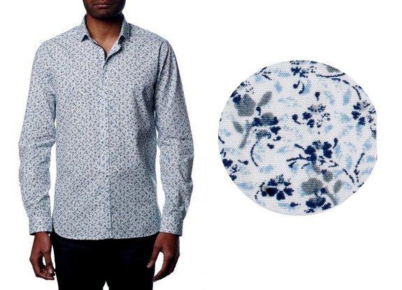 chemise motif fleurs