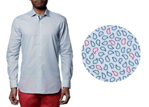 chemise motifs bicolores