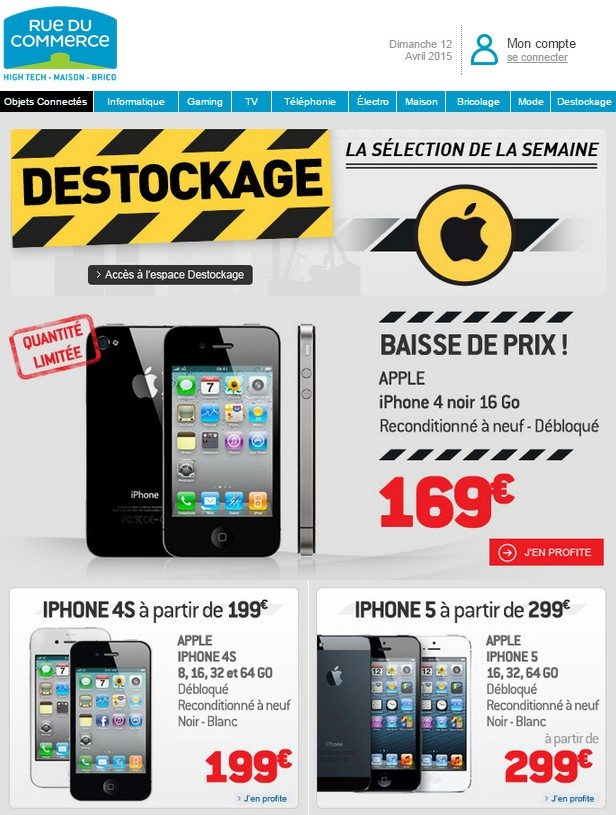 destockage iphone