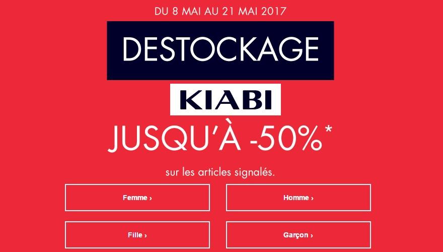 Grand Déstockage chez Kiabi jusqu'à -50% !