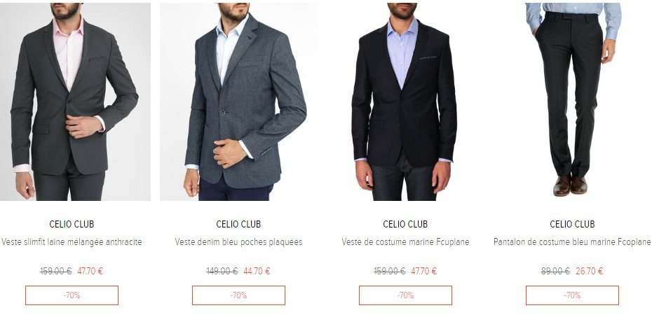 destockage vetement homme look business