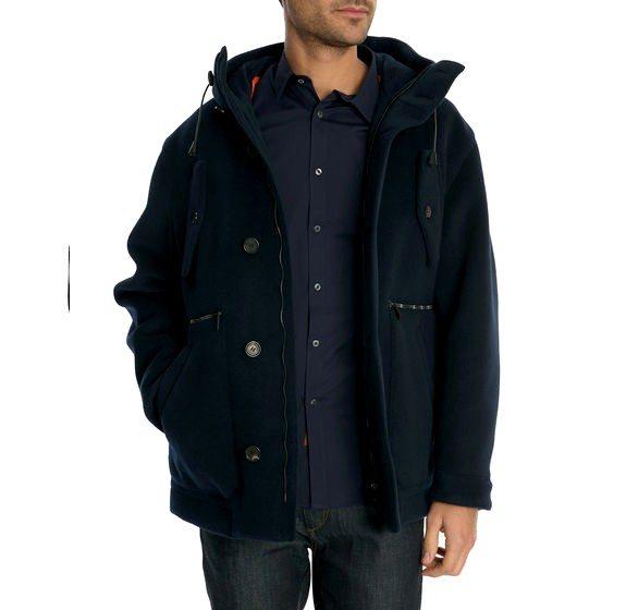 duffle coat dsquared bleu marine