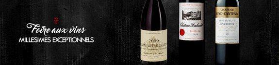 foire aux vins millesimes exceptionnels