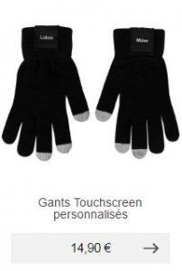 gants tactiles homme personnalisable idee cadeau
