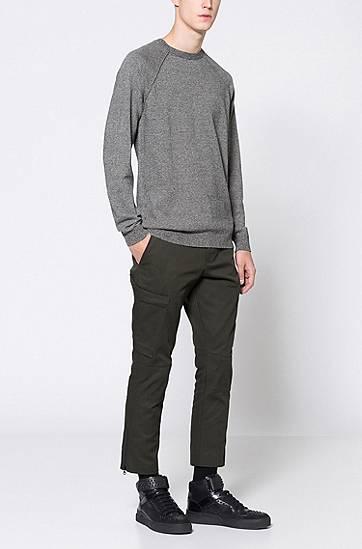 Pull en pur coton à effet mouliné HUGO   Monsieur Mode - Blog Homme 261debf27dcd