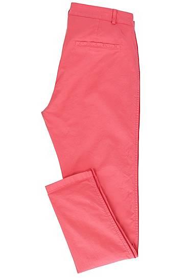 2f576406f645 Pantalon chino Relaxed Fit en coton stretch Rose Women BOSS Orange - Hugo  Boss (FR