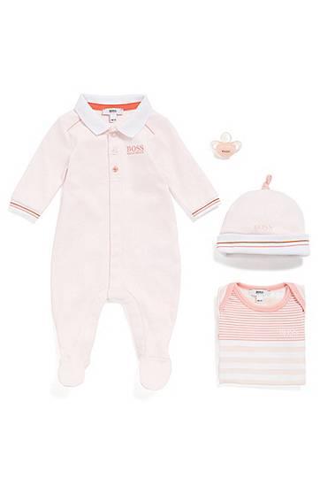 98eca989043 Pyjama pour bébé Regular Fit en coton interlock Rose clair Girls BOSS - Hugo  Boss (