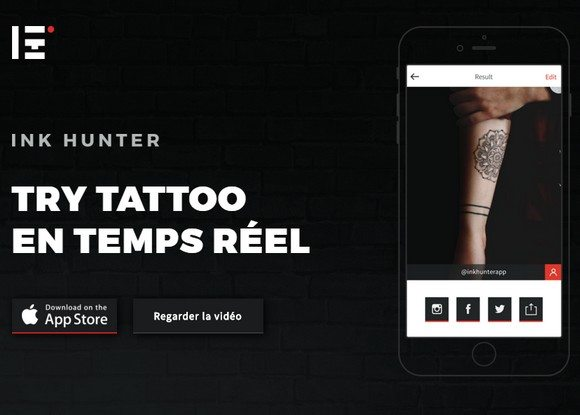Ink Hunter, l'application de tatouages virtuels