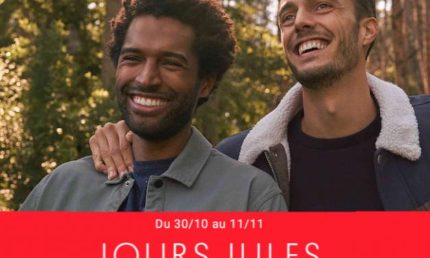 Profitez des Jours Jules avec des remises jusqu'à -50% !!