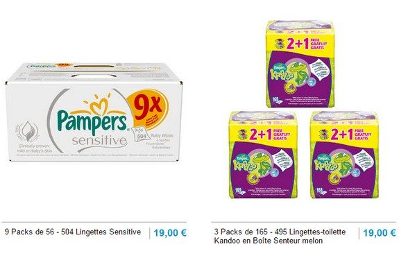 lingettes pampers pas cheres