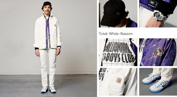 look masculin streetwear black violet
