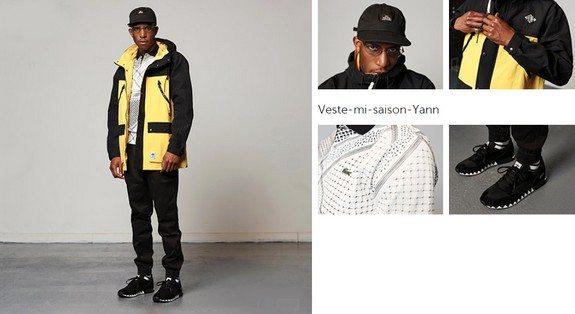 look mec black veste jaune streetwear