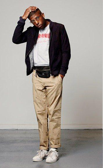 look streetwear homme black