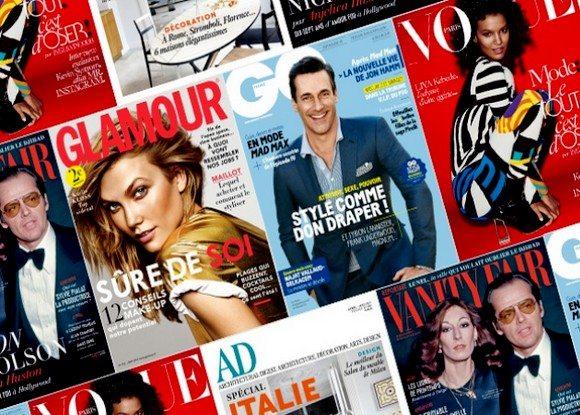 Magazines homme et femme en promo