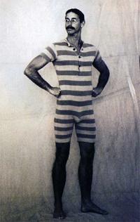 ancien maillot de bain homme epoque 19eme siecle