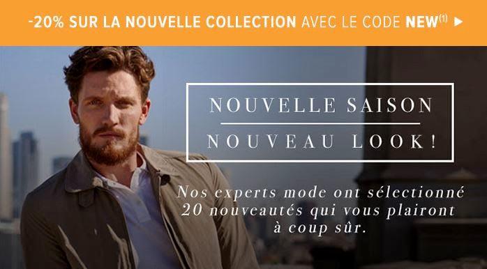 -20% sur les Nouvelles Collections chez Menlook !!