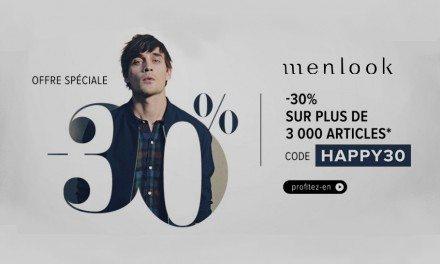 Code Promo Menlook : -30% de remise !