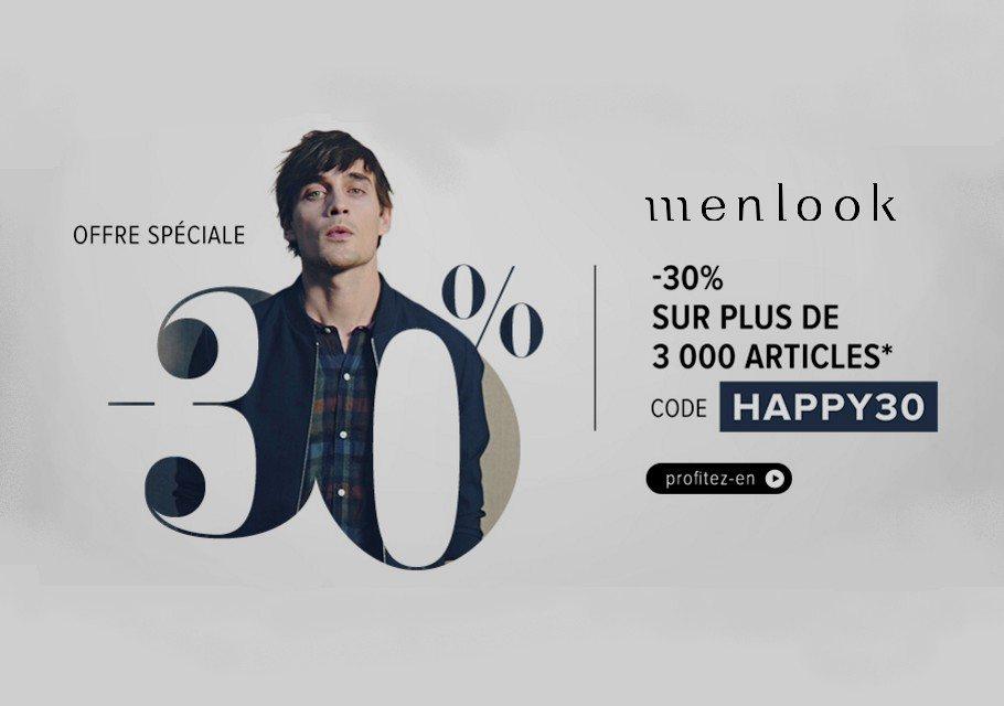 menlook offre speciale code promo