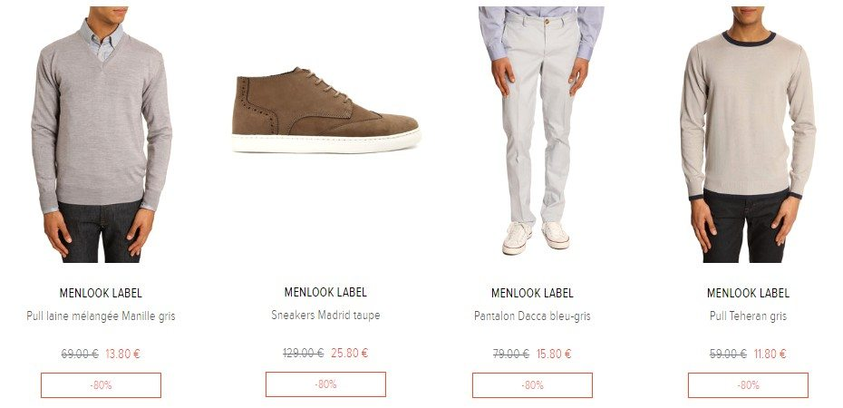 mode homme destockage