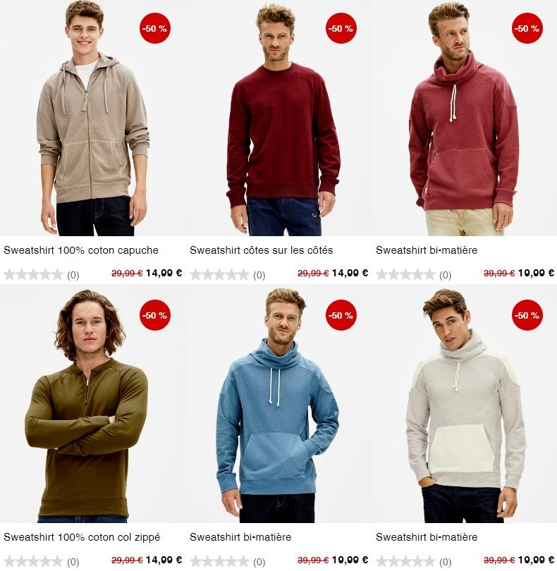 mode homme discount