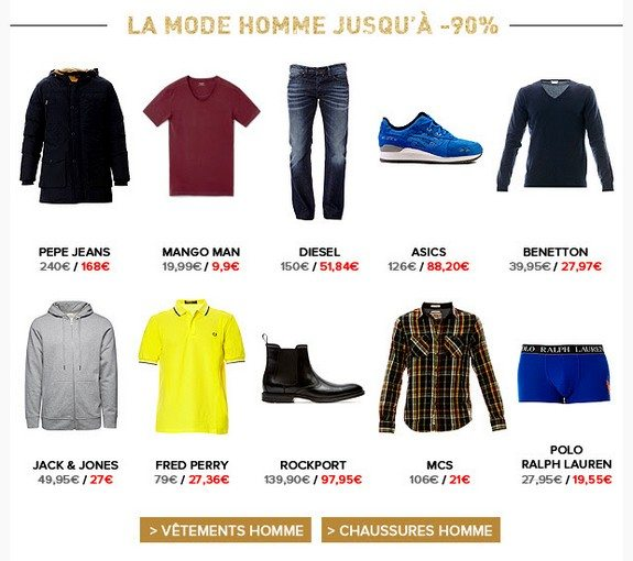 mode homme pas chere brandalley