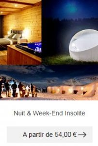 nuit weekend insolite idee cadeau homme