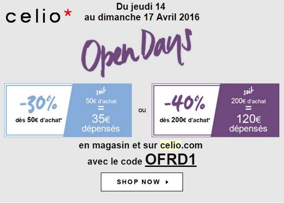 open days celio 2016