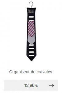 organiseur cravates idee cadeau homme pratique