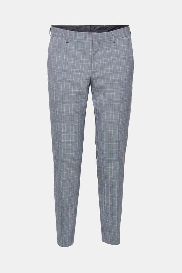 pantalon a carreaux gris esprit