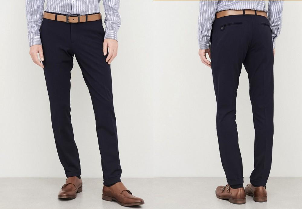 pantalon-bleu-marine-devred-en-jersey